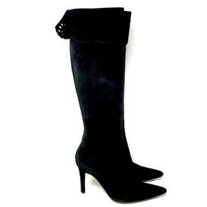 Stuart Weitzman Boots Womens' Black Suede 6M